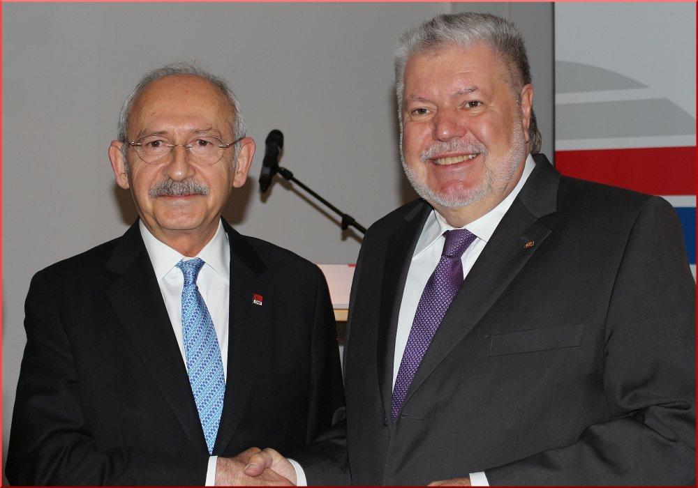 Friedrich Ebert Vakfı Başkanı Kurt Beck ve Kılıçdaroğlu - FOTO: AYPA